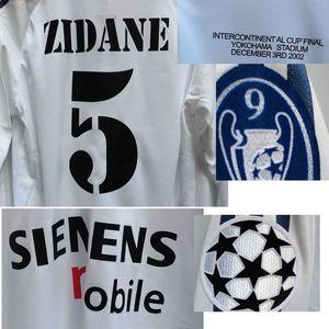 2002 Intercontinental Cup Final Zidane Ronaldo Raul Figo Long Sleeve Print Any Name Number Soccer Patch Badge