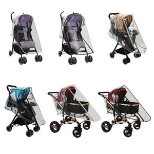 Stroller Waterproof Rain Cover Transparent Wind Dust Shield Zipper Open Raincoat H05C Parts & Accessories