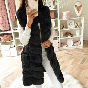 Fashion Winter coat women Faux Fur Gilet Vest Sleeveless Waistcoat Body Warmer Jacket Coat Outwear chaquetas mujer 2021