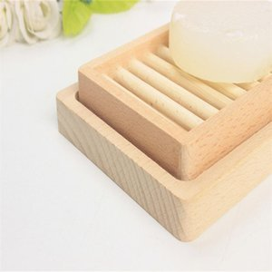 Originality Rack Soap Tray Storage Box Dishes Double Diy Two Layers Deck Woman Man Fashion Supplies Wooden Holder Bath GGA4228