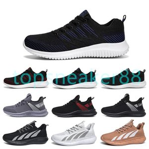 High quality men's running shoes breathable color black white grey orange red fashion men's outdoor shoes sneaker