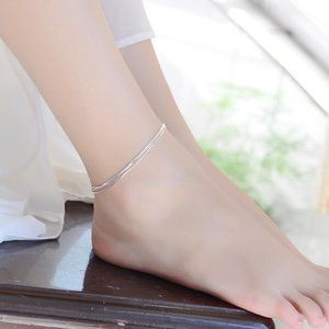 Anklets Sexy Beach Multilayer Snake Bones Foot Chain Silver Color Anklet Bracelet For Fashion Women Jewelry