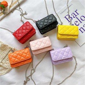 مصمم الأطفال حقيبة يد فتاة الأميرة رسول حقيبة الاطفال الأزياء سلسلة معدنية واحدة الكتف تغيير محفظة