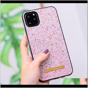 Luxury Fashion Glitter Diamond Rhinestone Designer Phone Cases For Samsung S20 Note20 10 Pro S10 Iphone 12 11 Protect Silicone Back Az Tf93R