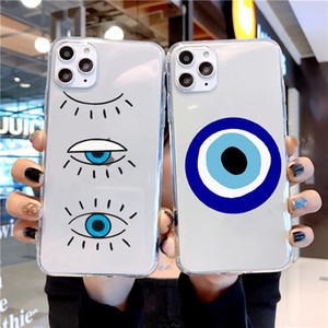 Transparent Phone Case For iphone12 pro Max Evil Eye Illustrations Phone Case For IPhone 11 Pro XS XR 7 8 Plus Soft TPU