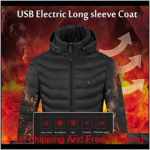 2021 Upgrade 8 Heating Zones Mens Women Heated Outdoor Vest Usb Electric Heated Hooded Long Sleeves Jacket Ther qylyCc lyqlove