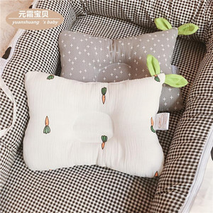 Pillows Born Baby Sleeping Concave Shaping Pillow Cotton Cute Soft Breathable Anti-heading Correcting Headrest