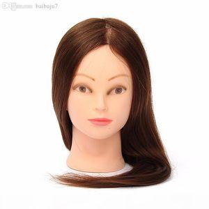 Wholesale-professionnel coiffure poupées poupées tête féminin mannequin coiffe tête formation 100% humain vrais cheveux de haute qualité 24 pouces