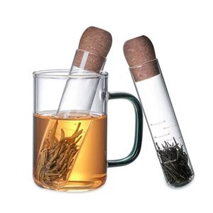 Чайное ситечко Творческая труба стеклянные чаи Infuser DesignBorker Fore Fall Filter для Puer Spice Herb Trub Tools аксессуары