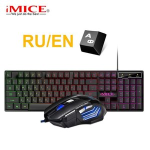 Keyboard Mouse Combos Gaming And Wired With Backlight Russia Gamer Kit 5500Dpi Silent Set For PC Laptop