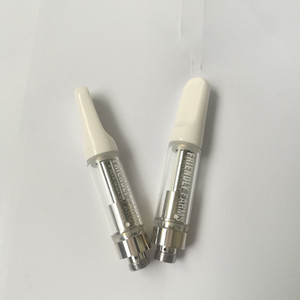 Friendly Farm Vape Cartridge 0.8ml Pyrex Glass Tank Ceramic Coil Empty Vape pen cartridges 510 Thread Atomizer Thick Oil Vaporizer Vape cart