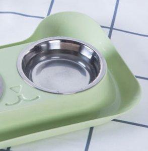 Carino ciotola di gatto antiscivolo ciotole per animali domestici cibo dog doppia ciotola pet gatto acqua alimentatore elevato 22 s2