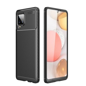 Carbon Fiber Drop Protection Shock Resistant TPU Slim and Anti-Scratch Soft Case For Samsung A02S M02S A11 A21S M51 A12 5G A32 A42 A52 A72
