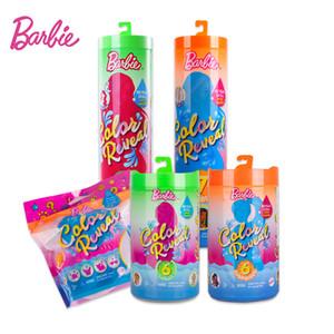 Original Barbie Change Color Reveal Doll Temperature Sensing Discoloration Magic Dress Up Surprise Blind Box Barbie Doll TOYS L0225
