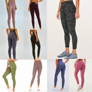 lu-32 lulu vfu womens yoga suit pants High Waist Sports Raising Hips Gym Wear Leggings Align Elastic Fitness Tights Workout fitness set