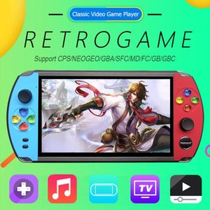 X19 7.0 inch Screen Handheld Pocket Retro Video Game Player for FC CPS NEOGEO Mini Game Console Built in 1600 2500 Games