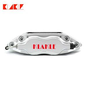 KLAKLE Car Brake Kit Designer 7600 Black Calipers Street Pads PCD 4x100 285*24MM Slotted Rotors Center Bell For BMW E30 Front Wheel