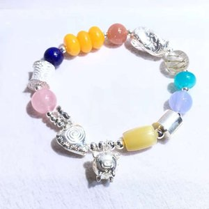 GEO.Jewelry's Colorful jeweled silver bracelet