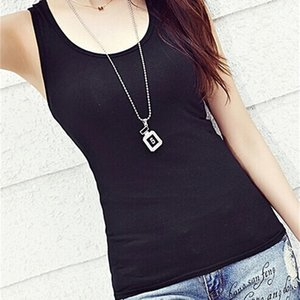 Vest women's black and white loose outer wear with spring and summer new small sling bottomed shirt sleeveless