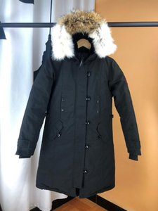 Top Quality Mens Down Coat Thick real wolf fur Hooded Womens Slim Jacket Winter Parka Ladies Long Parkas Designer Hoodies Jackets Warm coats