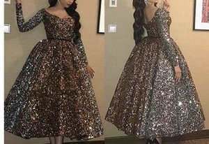 Cocktail Dresses Plus Size Arabic Muslim Gold Long Sleeve Short Evening Prom Gowns Sexy Elegant Women Formal Gala