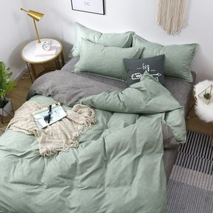 Bedding Sets Minimalism Green Youthful Style Home Textile Duvet Cover Bed Sheet Pillow Case Single Double Queen King For Set