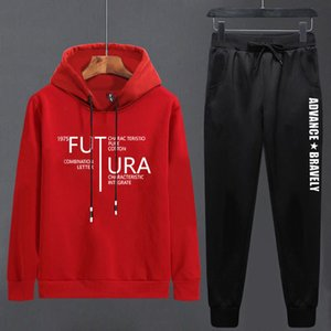 Chao Brand T-shirt Suit Two Piece Autumn Leisure Sportswear T-shirt Thin Korean Version Et Men's Trousers