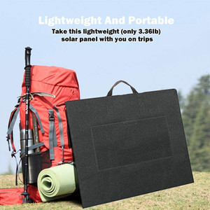 50W Portable Solar Panel, Flashfish Foldable Solar Charger with 5V USB 18V DC Output Compatible with Portable Generator, Smartphones