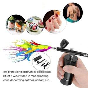 Pistole a spruzzo professionale 0.3mm mini penna kit compressore aerografo portatile portatile portatile pistola portatile per artigianato modello nail art vernice vernice sprayi