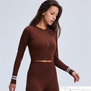 En stock! Zechuang Internet Celebrity Celebrity Cross-Bordure Selling Yoga Sportswear Skinny Costume de manches longues respirantes