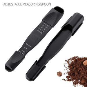 Adjustable Spoons Measuring Tools 9 Gears Multi-scale Double-Sided Design Scoop fits Spice Jars Perfect for Liquid Dry Ingredients CCF7458