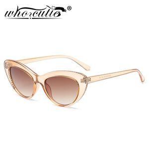 Кто Cutie Chrinestone Cat Eye Солнцезащитные очки Женский Бренд Дизайн 2021 Старинные Легкие Кристаллические Рамки Кейтее Солнцезащитные Очки Женщины S398