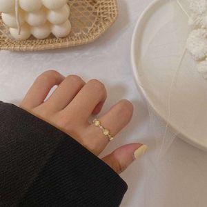 Französisch Einfache Barockkatze Auge Temperament Öffnen Sie einstellbare vielseitige modische Ring