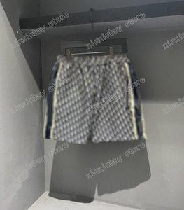 21ss Mens designer shorts pants Jacquard fabric Double letter Men Pant Casual letters Trousers black blue 06