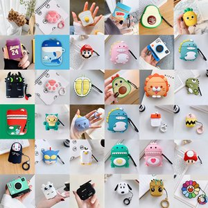 3D Cute Lovely Cartoon Fruit Animal Soft Silicone Cases Wireless Earphone Shockproof Protective Bag Anti-drop For Apple AirPods 1 2 3 Pro