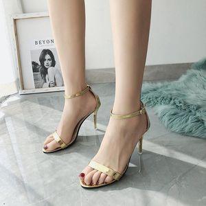 Se IFSOND nuova estate donne tacco alto pompe sexy scarpe da festa aperta per donna fashion fibbia cinturino sottile tacco sandalias de mujer