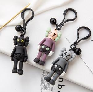 KAWS кукла дизайнер брелок брелок моды кунжут улица кожаные ключевые цепные аксессуары PVC действие фигурки игрушки сумка автомобиль ключ колец держатель