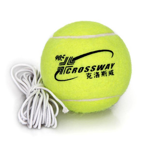 CROSSWAY High Elastic Tennis Training Ball With Rope High Quality Rubber Woolen Wear Resistance Outdoor Game Training Ball