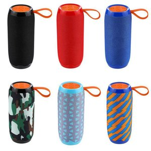TG106 Wireless Bluetooth Speaker Portable Plug-in Card Outdoor Sports Audio Double Horn Waterproof Speakers 7 Colors 2pc