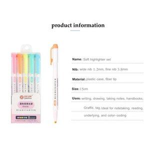 10 15 20 25 Colors Double Headed Fluorescent Pen Creative Highlighters Art Marker Pens School Supplies Cute Kawaii St jllAyg