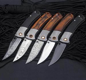 Farfalla in coltello BM10580 S30V lama alluminio + maniglia in legno Axiss Pocket Pieghevole coltello tattico Caccia tattica EDC Survival Tool Coltelli A2980