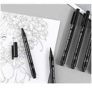 6 9 12pcs Black Pigma Micron Pen Set Fine Needle Pen Comic Drawing Pen Hook Line Stroke Hand-painted Soft Ti qylejU