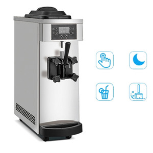 Single Head Soft Ice Cream Maker 220V 110V Commercial Small Super Mute Ice Cream Vending Machine