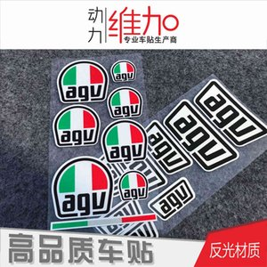 Suitable for Agv Rossi Helmet Sticker No.46 Motorcycle Waterproof Reflective Car