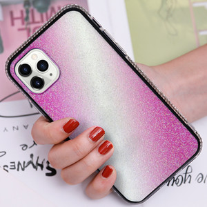 Colorfull Diamond case glitter case bling cover cellphone case for iphone XR ip11 ip12 mini pro max TPU PU Iphone serials Back Cover