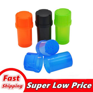 Multi-function plastic Tobacco Grinder 3 layers Crusher dry Herb Spice Grinding Crusher Airtainer Storage Container Case smoking accessories