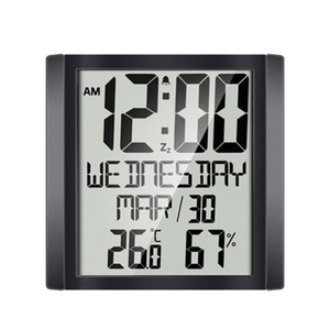 Large Sn Wall Clock Home Temperature and Humidity Meter Alarm Clock Living Room Digital Electronic