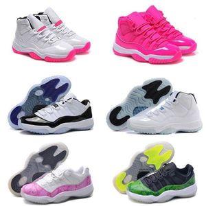 2021 Yüksek Kalite J11 Kadın Basketbol Ayakkabı Bred 72-10 Concord Kızılötesi Pembe Gama Mavi Legend Georgetown Spor Sneaker Çizmeler