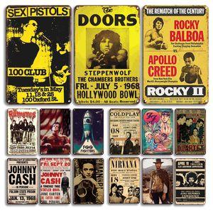 2021 Johnny Nakit Yıldız Metal Poster Teneke Işareti Vintage Adam Mağarası Bar Dekoratif Tabaklar Retro Kaya Müzik Metal Duvar Sanatı Plak Oda Dekorasyon