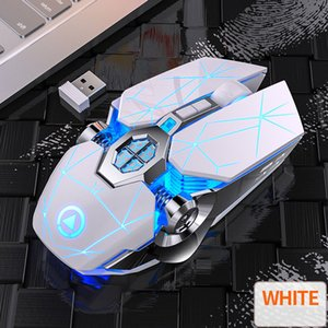 Gaming Mouse Rechargeable Wireless Silent Mouse LED Backlit 2.4G USB 1600DPI Optical Ergonomic Mouse Gamer Desktop For PC Laptop
